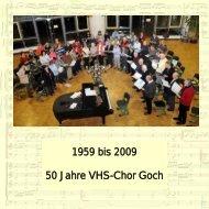 1959 bis 2009 50 Jahre VHS-Chor Goch - Kantorei.info