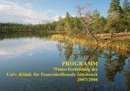 PROGRAMM - Universitätsklinik für FRAUENHEILKUNDE Innsbruck