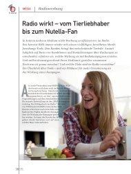 Radio wirkt – vom Tierliebhaber bis zum Nutella-Fan (PDF) - marke41