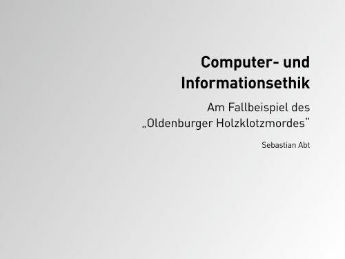 Computer- und Informationsethik