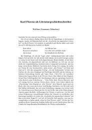 Karl Florenz als Literaturgeschichtsschreiber - Universität Hamburg