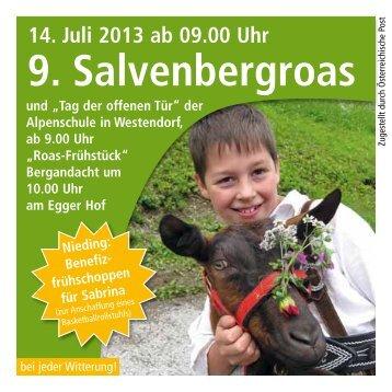 Programm zur Salvenbergroas 2013 - Alpenschule