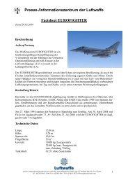 Fact Sheet EUROFIGHTER - Luftwaffe