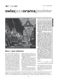 Jazzletter Nr. 15 - SwissJazzOrama