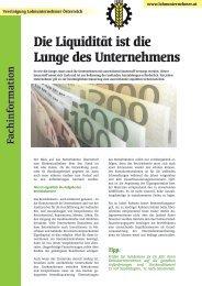 Die Liquidität ist die Lunge des Unternehmens - Lohnunternehmer