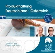Produkthaftung Deutschland : Österreich