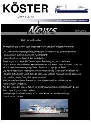 Aktuell Salon MS Ostfriesland - Köster Schiffsisolierung und