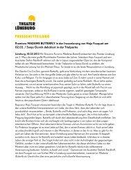 18. Februar 2013: Premiere MADAME ... - Theater Lüneburg