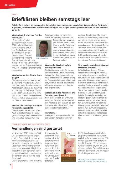 CISL giornale TED dicembre10.indd - SGB - CISL