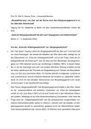 Prof. Dr. Rolf G. Heinze, Ruhr - Fakultät für Sozialwissenschaft der ...