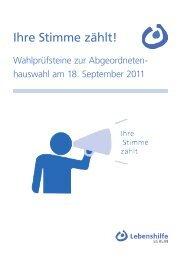 Wahlprüfsteine - Lebenshilfe Berlin