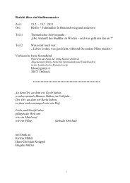 Bericht über ein Studiensemester Zeit : 15.2. – 15.7 ... - Pastoralkolleg