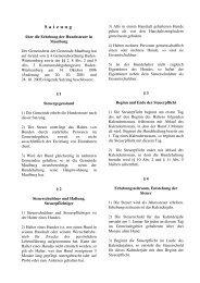 Satzung über die Erhebung der Hundesteuer - Maulburg