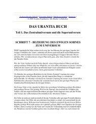 Das Urantia Buch - Schrift 7 - Beziehung des Ewigen Sohnes zum ...