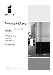 Montageanleitung - Schiebetür 24