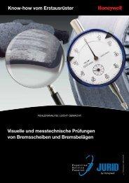 Visuelle und messtechnische Prüfungen von Bremsscheiben und ...