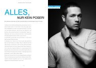 NUR KEIN POSER! - IDEAL! Interview Magazin