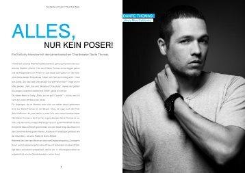 NUR KEIN POSER! - IDEAL! Interview Magazin
