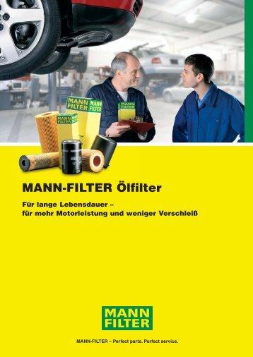 Die Bauformen der MANN-FILTER Ölfilter - MANN+HUMMEL