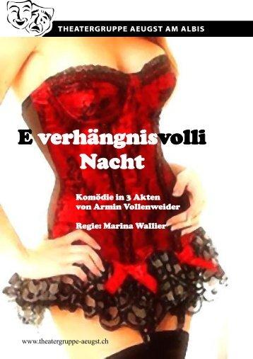 E verhängnisvolli Nacht - Theatergruppe Aeugst am Albis