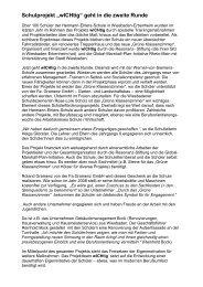 """Schulprojekt """"wICHtig"""" geht in die zweite Runde - Resonanz-Stiftung ..."""