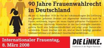 Flyer: Frauentag 2008 - DIE LINKE. Fraktion im Rat der ...