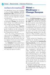 Thimi — Bhaktapur — Changu Narayan - Reise Know-How