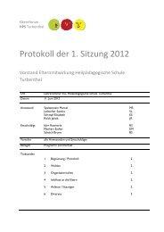 Protokoll der 1. Sitzung 2012 - HPS Turbenthal