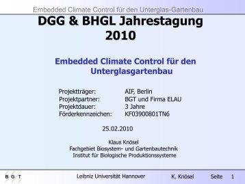 Embedded Climate Control für den Unterglas-Gartenbau