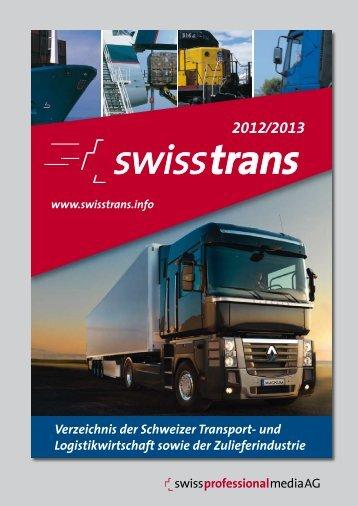 Verzeichnis der Schweizer Transport- und ... - swisstrans.info