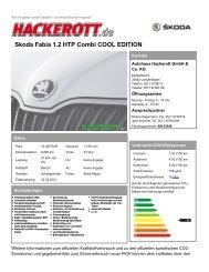 Skoda Fabia 1.2 HTP Combi COOL EDITION