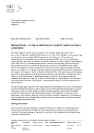 Forslag om etablering av et nasjonalt register over ... - Kreftregisteret