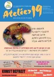 kunstzeitung Q3 2013 - Atelier 19