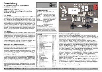 PDF Bauanleitung - Reinhard Merlau Modellbau eK