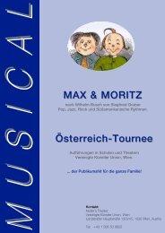 MAX & MORITZ Österreich-Tournee - business support