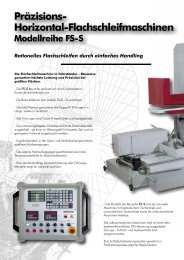 Präzisions- Horizontal-Flachschleifmaschinen Modellreihe FS-S ...