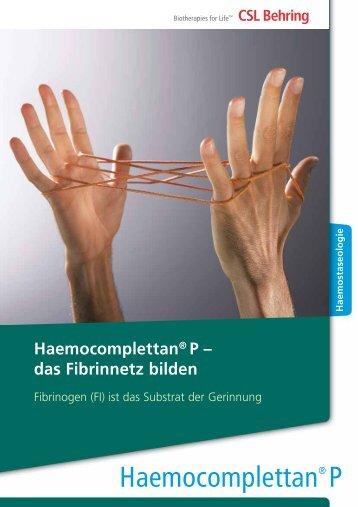 Haemocomplettan® P - CSL Behring Österreich