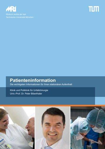Patienteninformation - Klinik und Poliklinik für Unfallchirurgie am ...