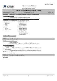 Sigurnosno-tehnički list - HACH LANGE