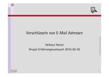 Verschlüsseln von E-Mail Adressen - EGON