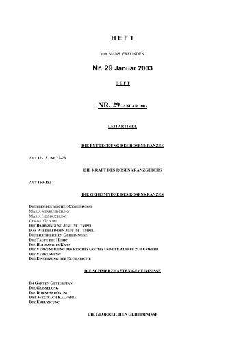 Bulletin 29 - Frère Marcel Van