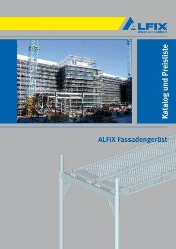 K atalog und Preisliste - Gerüste der Firma Alfix