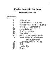 Neuanschaffungen 2012 - Pastoralverbund Olpe-Biggesee