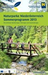 Naturparke Niederösterreich Sommerprogramm 2013