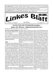 Ausgabe Nr. 13 vom 09. August 2011 - DIE LINKE. Halle /Saale