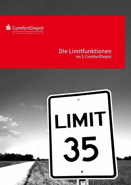 Die Limitfunktionen im S-ComfortDepot - Sparkasse Hanau