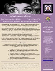 Identifying, Investigating, and Prosecuting Domestic Violence and ...