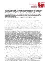 Motionen Fraktion FDP (Philippe Müller): Klare ... - PdA Bern