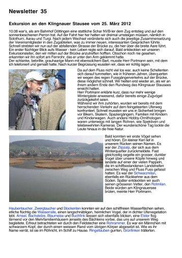 Newsletter 35 - Natur- und Vogelschutz Bätterkinden
