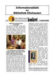 Informationsblatt Bibliothek Elixhausen